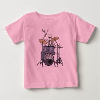 Skeleton Drummer Baby T-Shirt