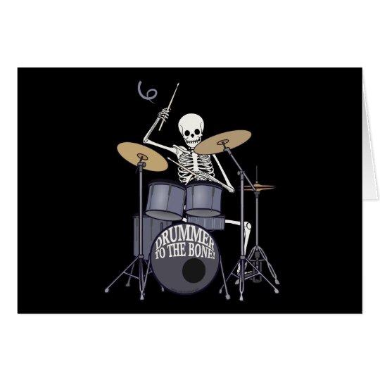 Skeleton Drummer Card