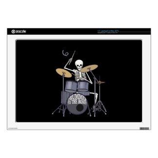 Skeleton Drummer Decal For Laptop