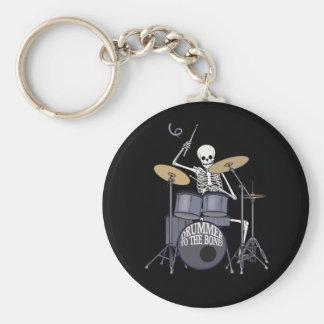Skeleton Drummer Keychain