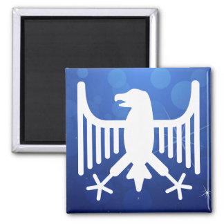 Skeleton Eagles Minimal 2 Inch Square Magnet
