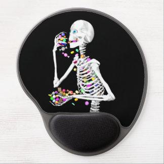 Skeleton Eating Halloween Candy Gel Mouse Pad