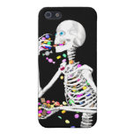 Skeleton Eating Halloween Candy iPhone 5/5S Covers