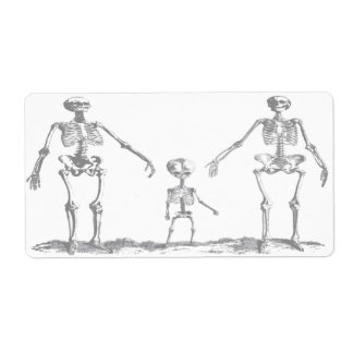 Skeleton Family Avery Label