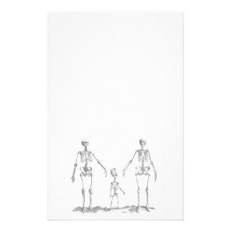 Skeleton Family Stationery