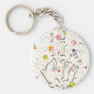 Skeleton Finger Swear Funny Keychain