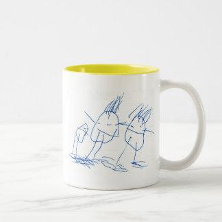skeleton-fireball Two-Tone coffee mug