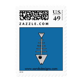 Skeleton Fish Stamps
