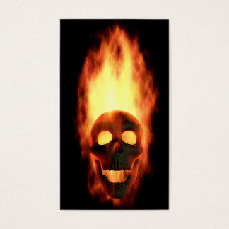Skeleton Flames Business Card