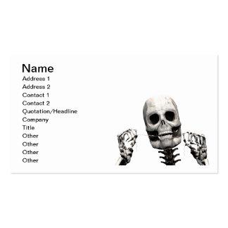 Skeleton flossing business card