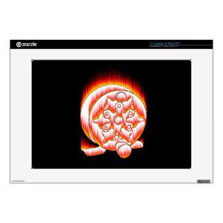 Skeleton Fly Reel flame Laptop Decal
