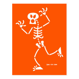 Skeleton Frightening Postcard