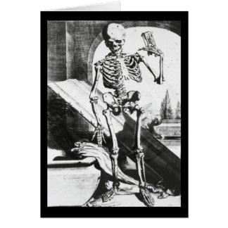 Skeleton from Anatomia Humani Corporis Card