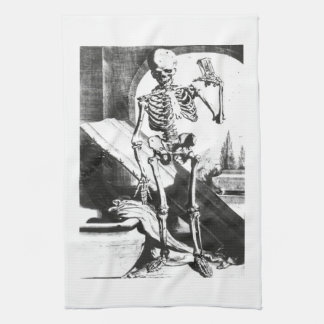 Skeleton from Anatomia Humani Corporis Kitchen Towel