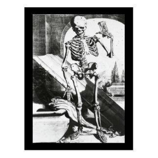 Skeleton from Anatomia Humani Corporis Postcard