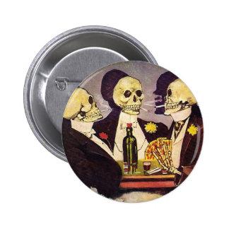 Skeleton Gamblers 2 Inch Round Button