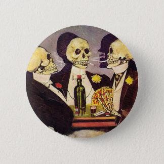 Skeleton Gamblers Pinback Button