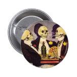 Skeleton Gamblers Pinback Buttons