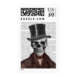 Skeleton Gentleman and Top hat Postage