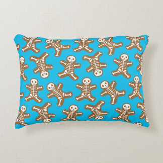 Skeleton Gingerbread Man Pattern Decorative Pillow