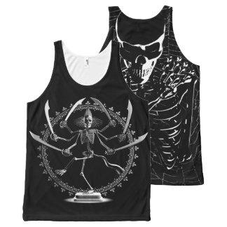 Skeleton Goddess All-Over Print Tank Top