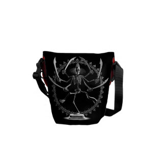 Skeleton Goddess Messenger Bags