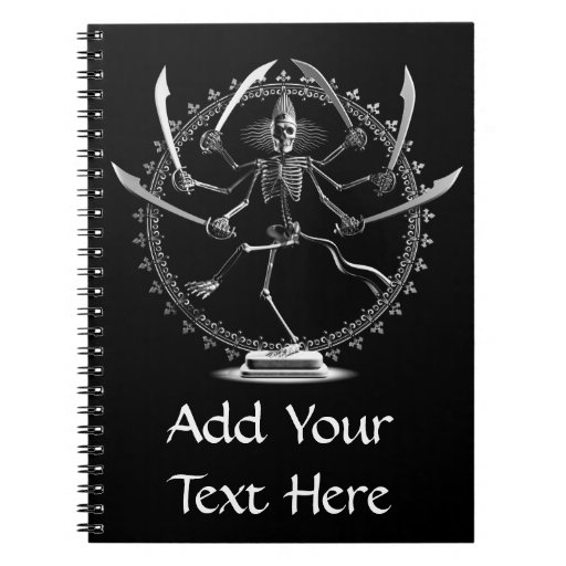 Skeleton Goddess Note Books