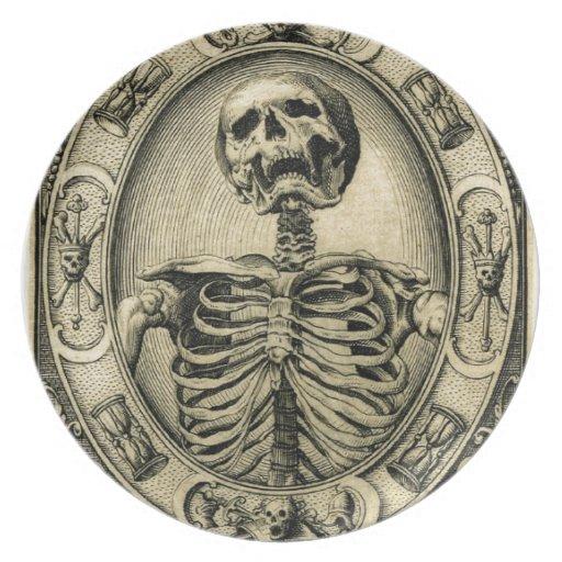 Skeleton, Goth, Medieval Party Plates