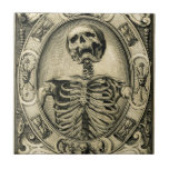 Skeleton, Goth, Medieval Tile