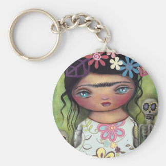 skeleton gothic Day of the Dead Keychain