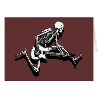 Skeleton Guitarist Jump Card
