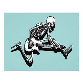 """Skeleton Guitarist Jump 4.25"""" X 5.5"""" Invitation Card"""