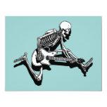 Skeleton Guitarist Jump Personalized Invitation
