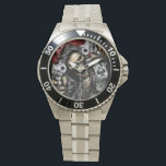 "Skeleton &amp; Guns Watch<br><div class=""desc"">Express Yourself Today With This Awesome Designer Skeleton &amp; Guns Mens&#39; Watch From Creative Tee &amp; Zazzle!!</div>"
