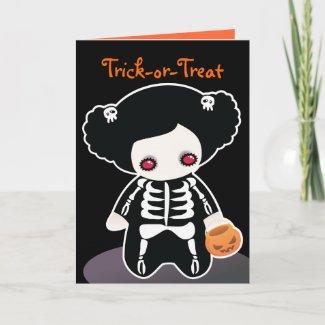 Skeleton Halloween Card for kids card