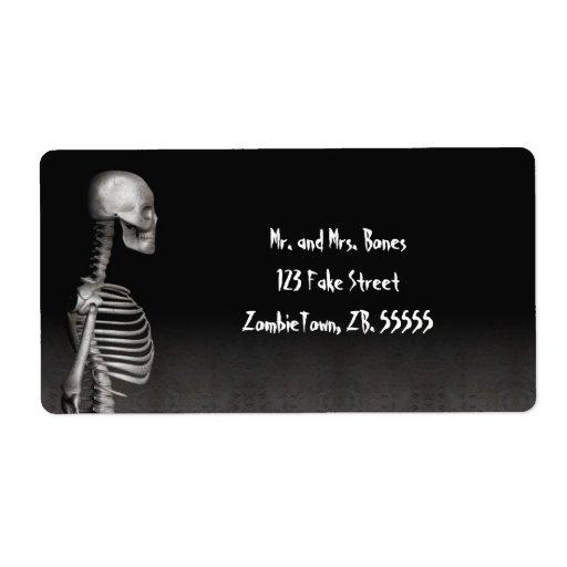 Skeleton - Halloween Labels