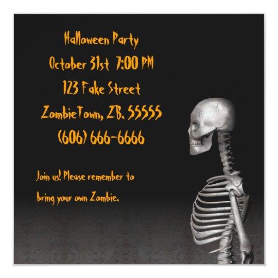 Skeleton - Halloween Party Invitation