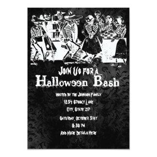 Skeleton Halloween Party Invitations