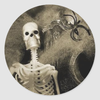 Skeleton Halloween Sticker