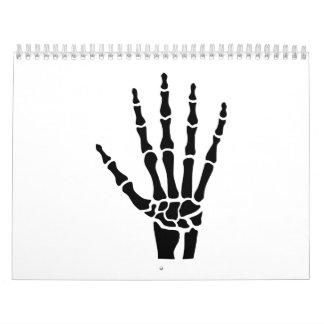 Skeleton hand finger calendar