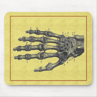 skeleton hand mouse pad