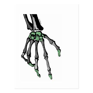 SKELETON HAND OF FATE POSTCARD