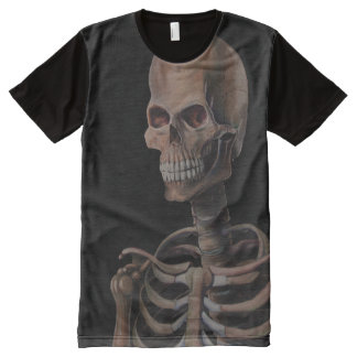 Skeleton Hand Painted All-Over-Print Shirt