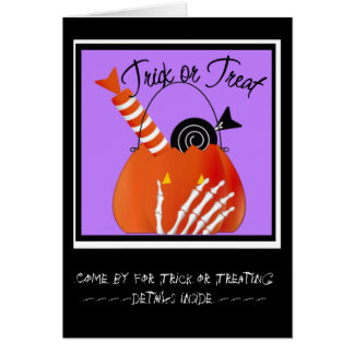 Skeleton Hand Trick or Treat Candy Card
