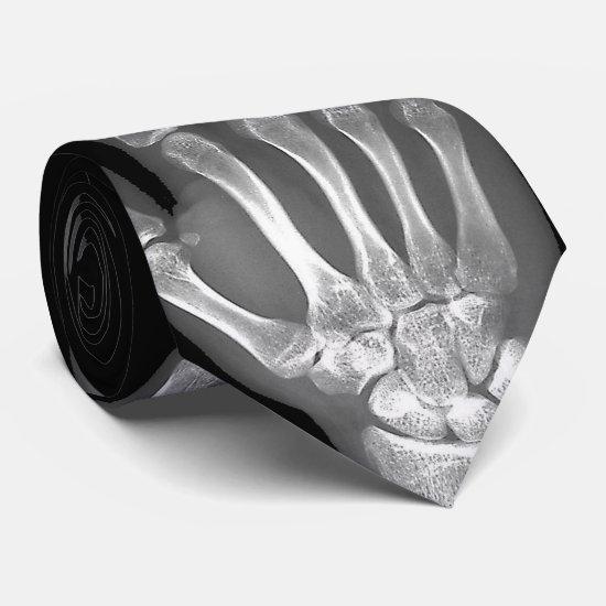 Skeleton Hand X-Ray Mens Tie