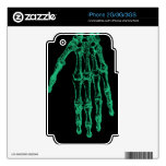 skeleton hand (xray)  iphone skin skins for the iPhone 2G