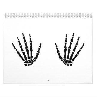 Skeleton hands finger calendar