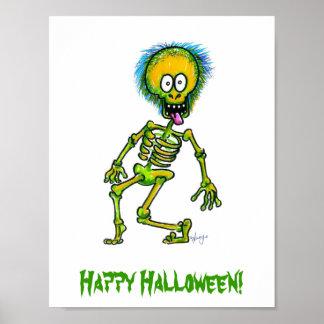 Skeleton Happy Halloween Poster