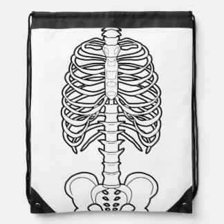 Skeleton Haunted Halloween Drawstring Backpack