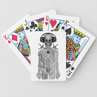 skeleton head phones double swallow eight ball bicycle playing cards